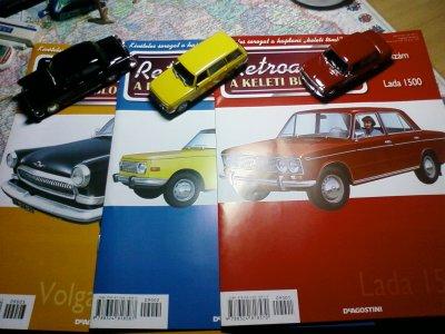 Lada, Wartburg, Volga újságokkal