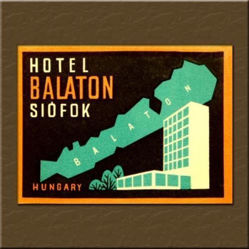 Siófok Balaton Hotel bőröndcímke