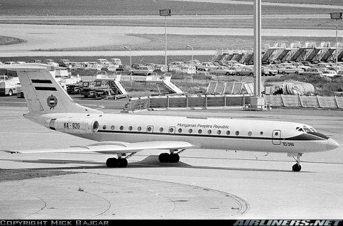 Tupolev Tu-134 repülőgép - Magyar kormánygép 1977