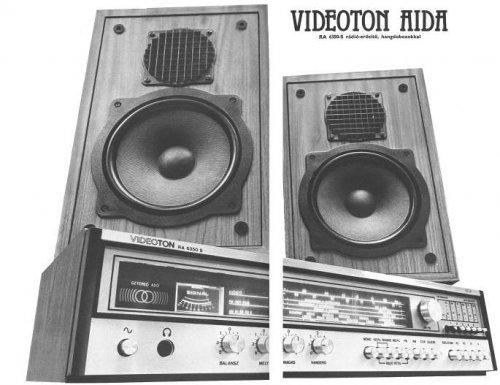 VIDEOTON AIDA - RA 6350-S rádió-erősítő, hangdobozokkal