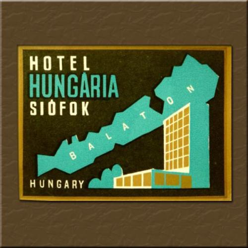 Siófok Hungária Hotel bőröndcímke