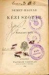 Német szótár rabkönyvtárból