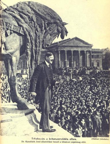 Tiltakozás a békeszerződés ellen