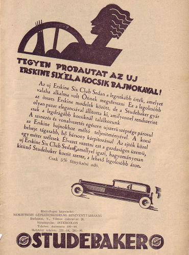 Studebaker autó