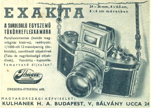 Exakta fényképezőgép