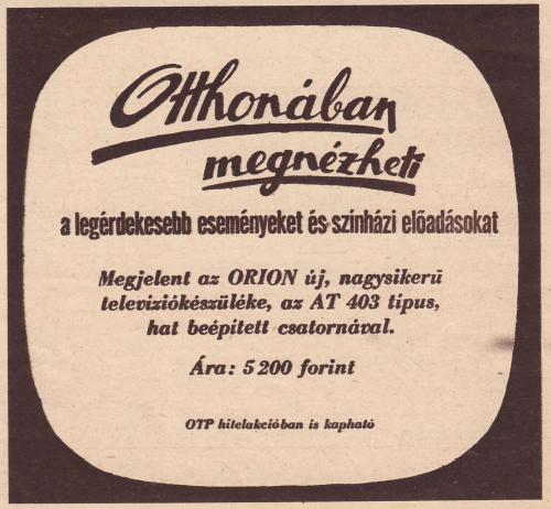 Orion Tisza televízió