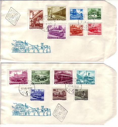 Közlekedés bélyegsor boriték