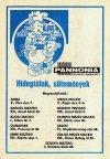 Pannonia Vállalat üzletek
