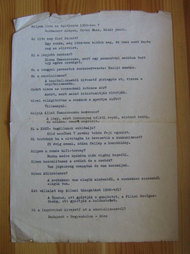 viccek '87-ből, írógéppel, indigóval: