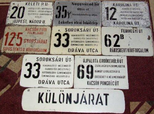 BKV autóbusz oldaltáblák
