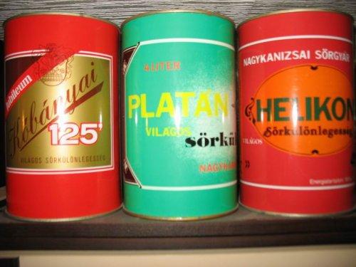 4 literes sörösdobozok - Kőbányai, Platán, Helikon