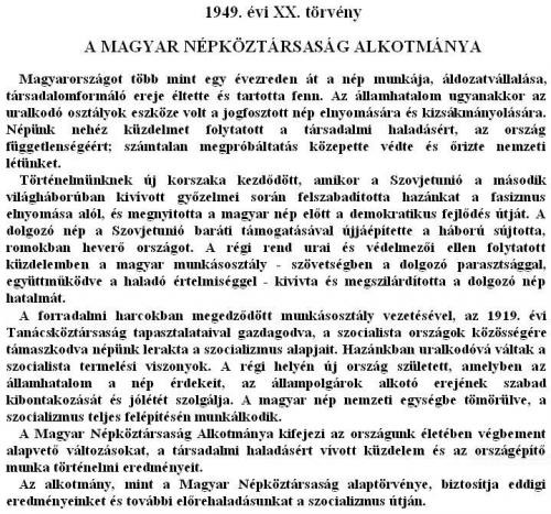 Alkotmány preambuluma 1972-1989