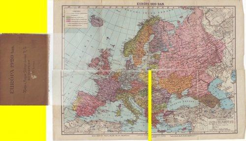 Európa térkép 1920-ból