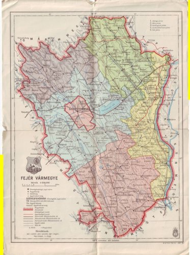 Fejér vármegye térkép