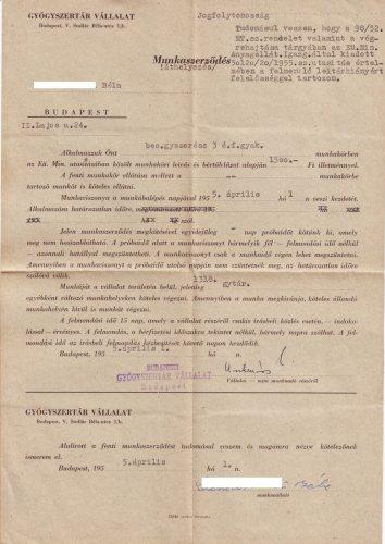 Gyógyszerész munkaszerződés