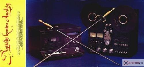 1983/3-as Hifi Magazin Poszter (Technics VS-P100 és RS-1700 magnók közös tesztje)