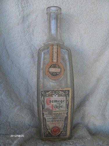 Gschwindt Csemege Likőrös üveg