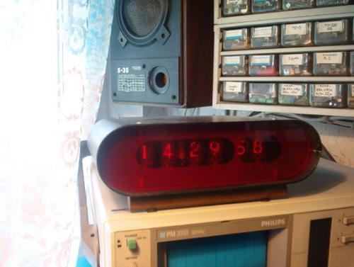 Nixie-számkijelzőcsöves óra, korabeli amatőr építésű emlék