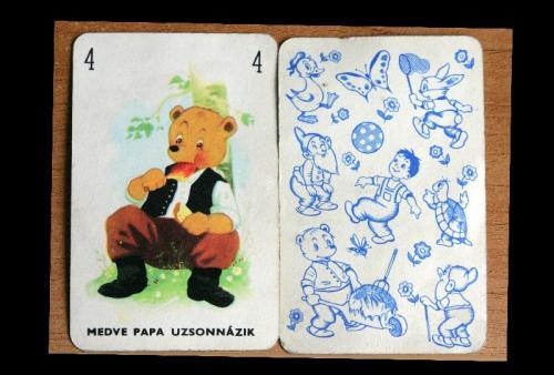 játék kártya (mackós)