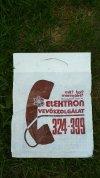 Elektron reklámzacskó