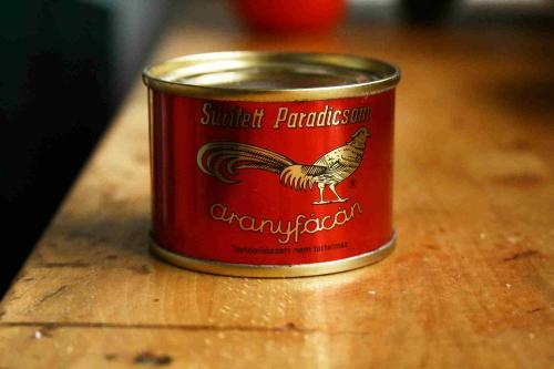 Aranyfácán sűrített paradicsom konzerv