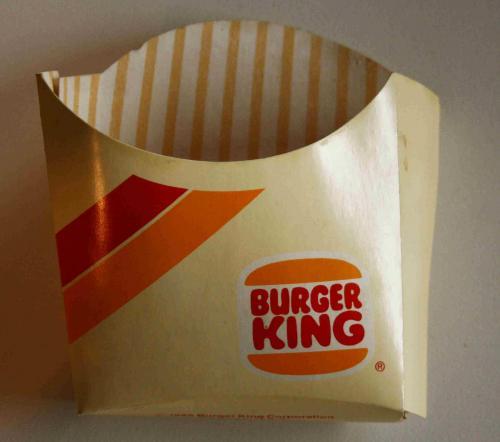Burger King sültkrumpli doboz