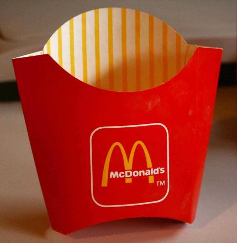 Mc Donald's sültkrumpli doboz