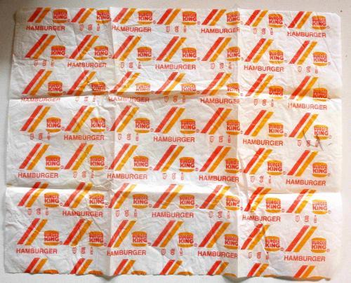 Burger King hamburger csomagoló