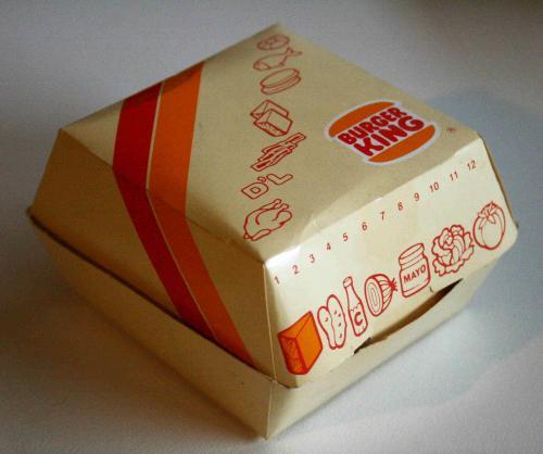 Burger King burger doboz