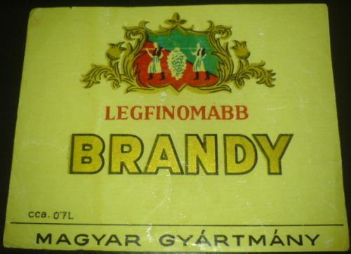 Brandy ital címke