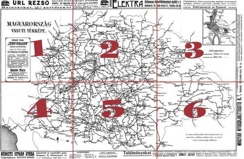 Nagy-Magyarország vasúti térképe