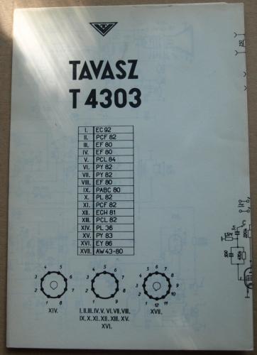 Tavasz televízió kapcsolási rajz T4303
