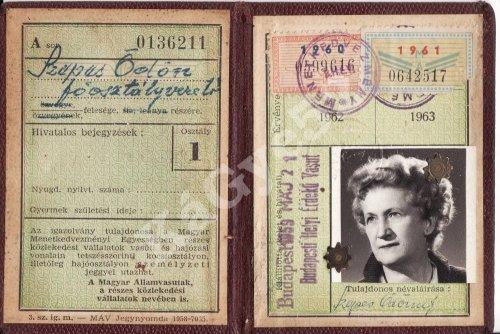 Igazolvány személyzeti jegyhez