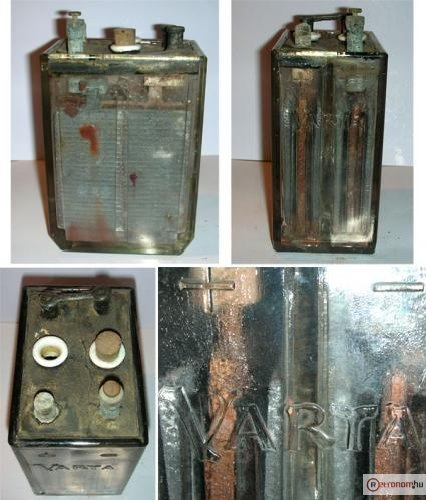 Akkumulátor üveg Varta