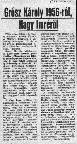 1956-os újságcikk