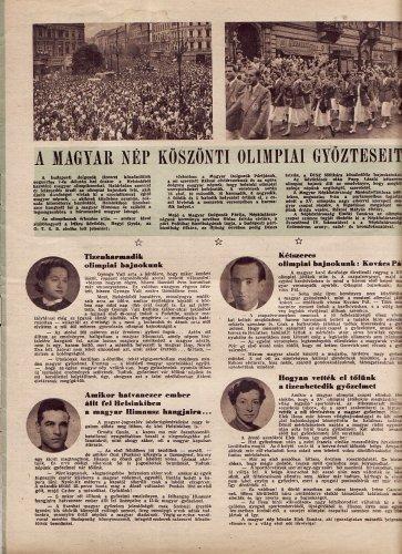 A magyar nép köszönti olimpiai győzteseit