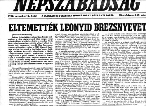 Leonyid Brezsnyev temetése