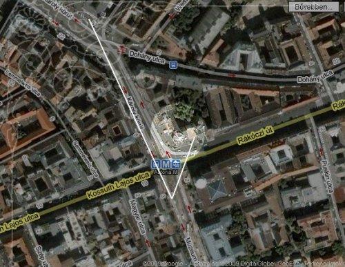 Astoria saroképület Budapest térkép