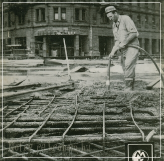 Blaha Lujza tér  - a metró építése