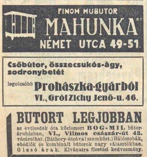 Bútor hirdetések