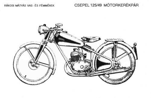 Csepel 125 motorkerékpár