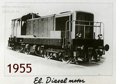 Diesel mozdony 1955 MÁV vonat