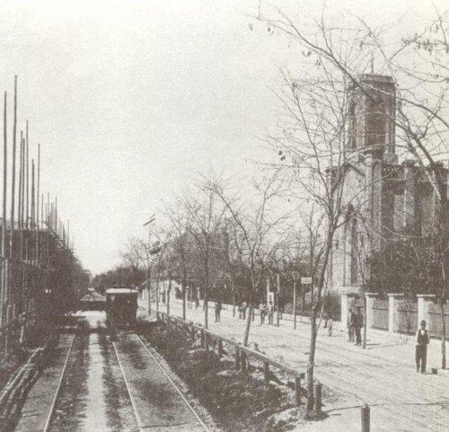 A zuglói Hermina út villamossal valamikor a század elején