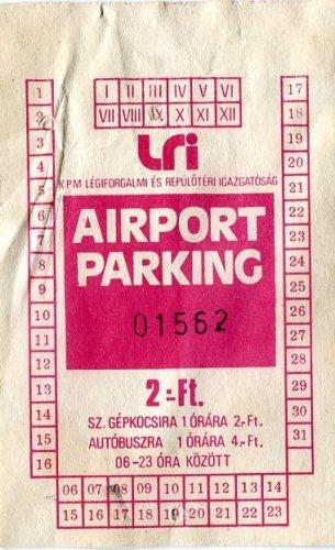 Ferihegyi parkolójegy