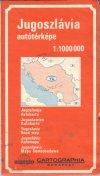 Jugoszlávia autótérképe