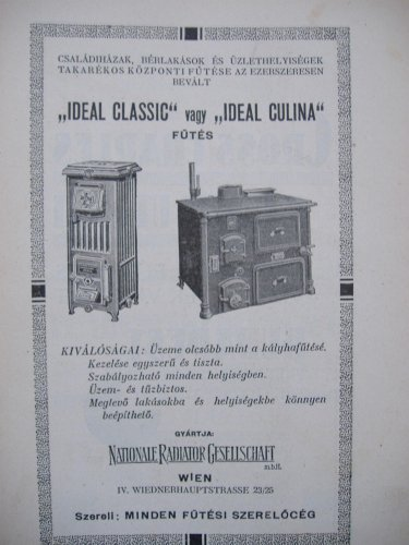 Kályha reklám