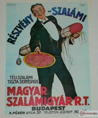 Részvény szalámi plakát