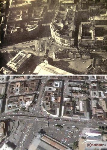 Nyugati Marx tér madártávlatból