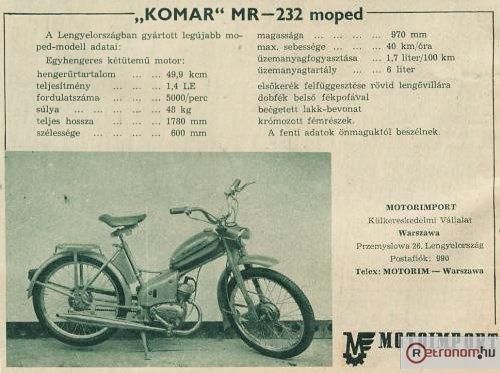Komar moped MR-232