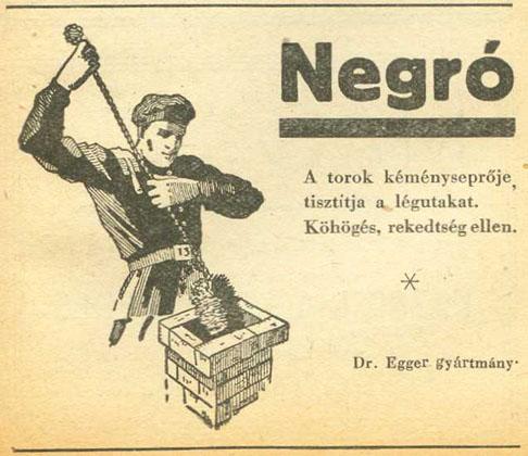 Negro cukorka reklám